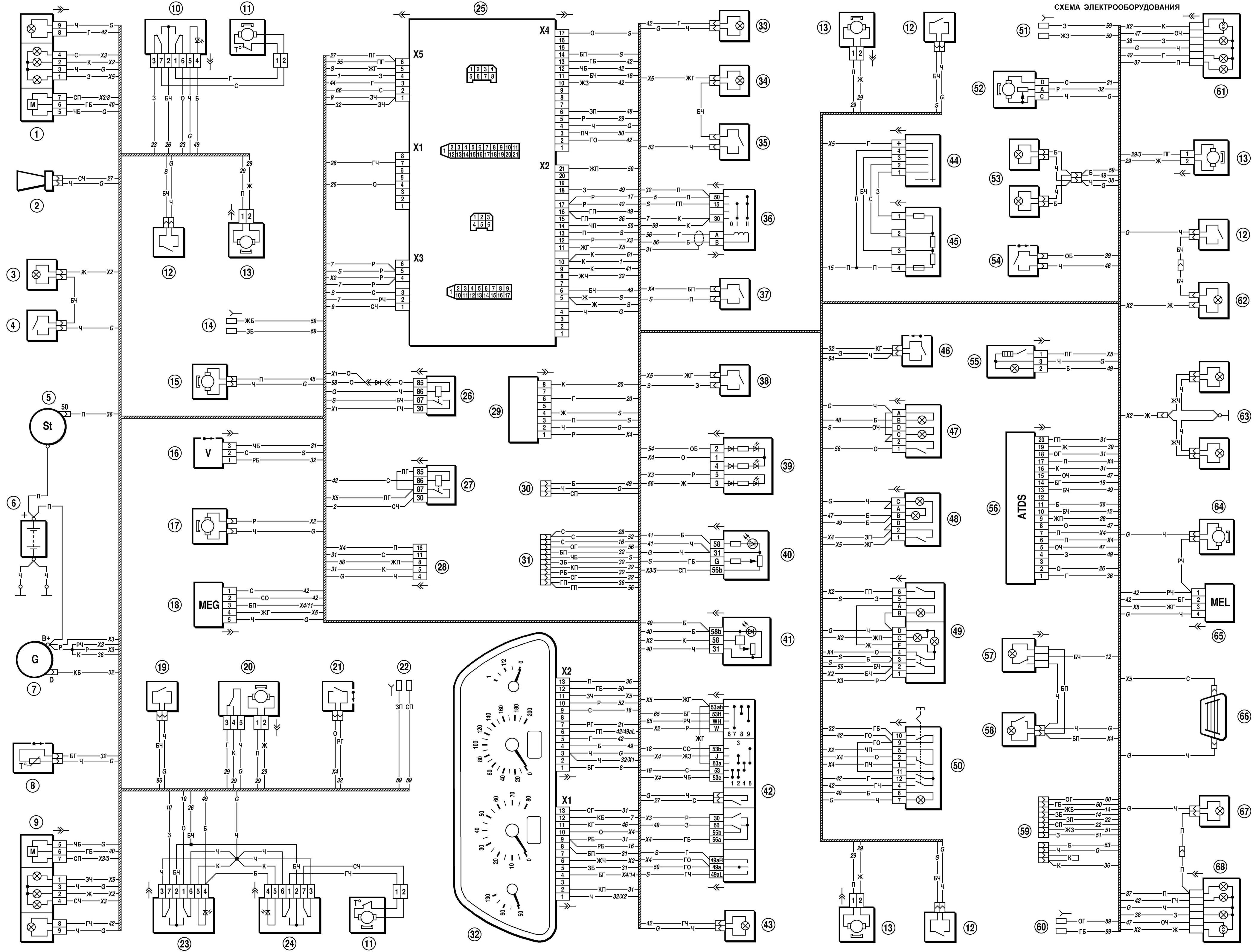 Электрическая схема Шнивы